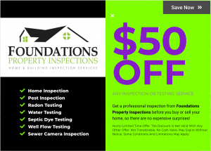 home buyer inspection foundations property discount coupon