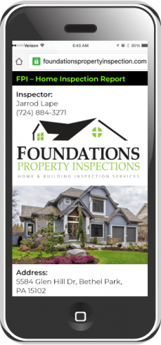 home buyer inspection report on iphone mobile device